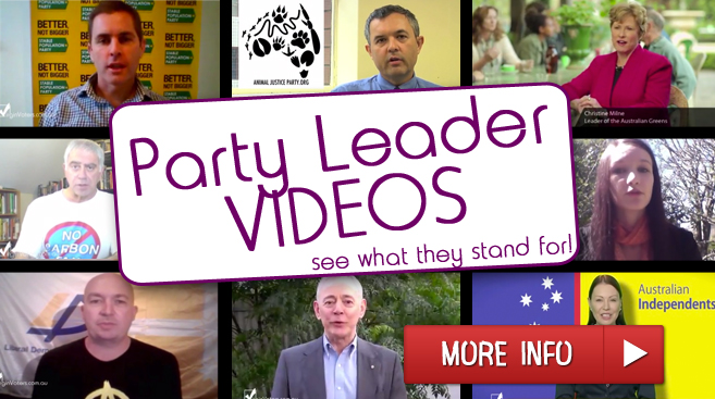 Party Leaders tell us why we should vote for them.
